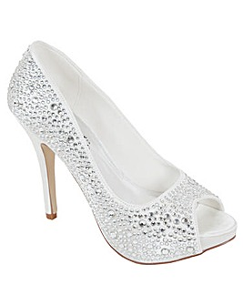 Perfect Crystal Encrusted Open Toe Shoe
