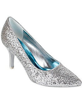 Perfect Silver Glitter Pointed Court