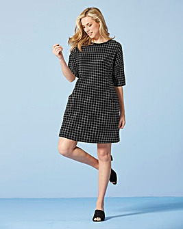 Check Pocket Tunic Dress