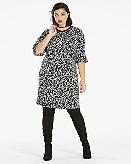 Animal Pocket Tunic Dress