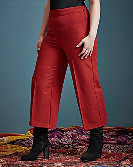 Simply Be High Waist Wide Leg CrTrouser