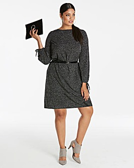 Tie Sleeve Tunic Dress