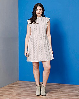 Simply Be Frill Sleeve Lace Dress