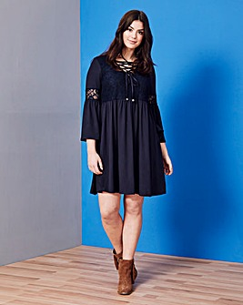 Simply Be Lace Trim Dress