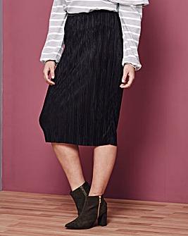 Simply Be Plisse Tube Skirt