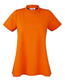 Orange High Neck Swing Top