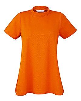 Orange High Neck Swing Top