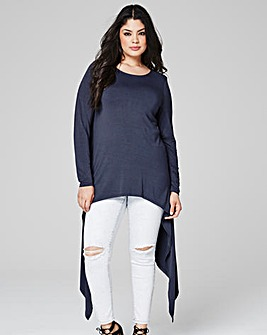Dark Grey Extreme Side Dip Top