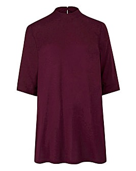 Damson High Neck Boyfriend T-shirt