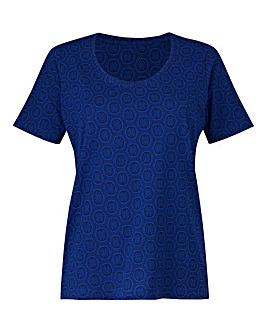 Cobalt Print T-Shirt