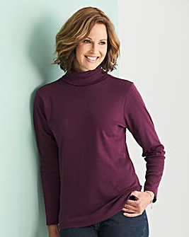 Plum/White Pack of 2 Rollneck Tops
