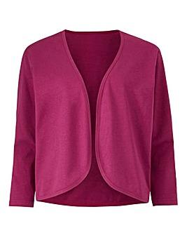 Magenta 3/4 Sleeve Jersey Shrug