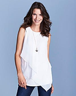 Ivory Woven Front Top