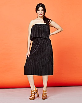 Simply Be Plisse Ruffle Midi Dress