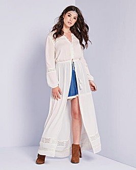 Simply Be Button Down Maxi Dress