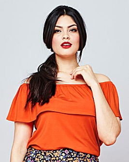 Simply Be Ruffle Off The Shoulder Top