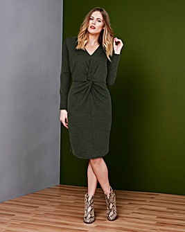 Simply Be Knot Front Twist Dress