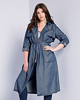 Simply Be Denim Trench Coat