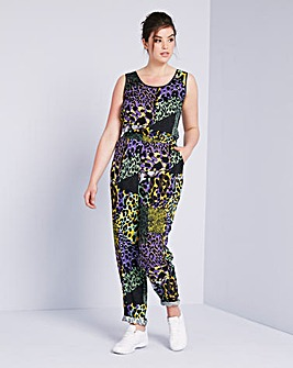 Simply Be Leopard Print Jumpsuit