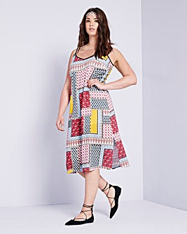 Simply Be Print Cami Midi Dress