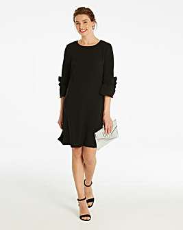 Frill Detail Sleeve Shift Dress