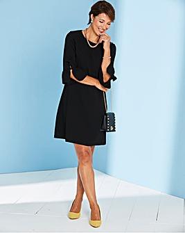 Frill Detail Sleeve Shift Dress