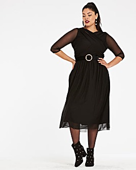 Wrap Drape Front Dress