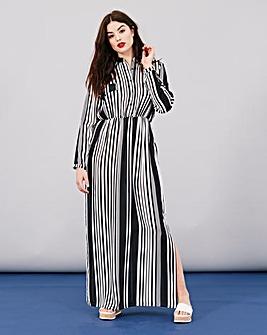 Simply Be Stripe Maxi Shirt Dress