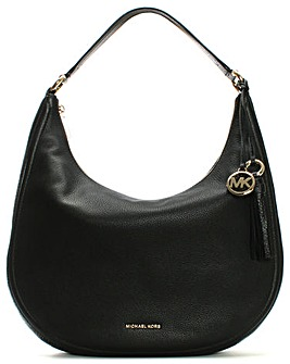 Michael Kors Crescent Leather Hobo Bag