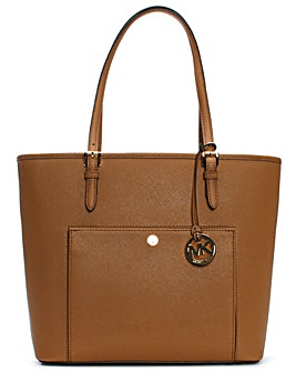 Michael Kors Large Tan Pocket Tote Bag