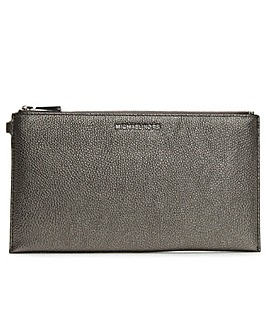 Michael Kors Tumbled Leather Clutch Bag