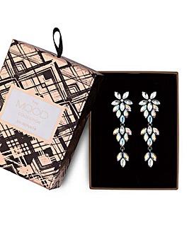 Mood Crystal Floral Earrings