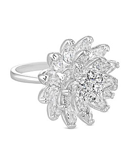 Jon Richard Crystal Cluster Flower Ring