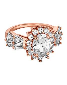 Jon Richard Oval Crystal Cluster Ring