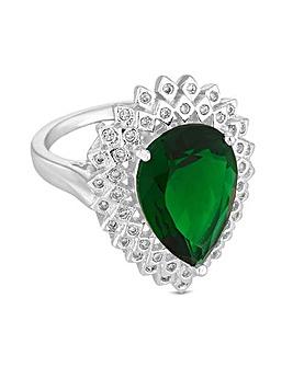 Jon Richard Peardrop Crystal Ring