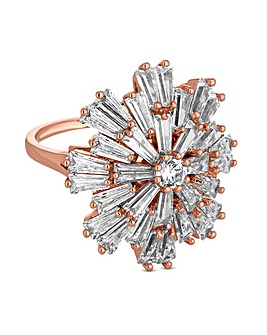 Jon Richard Rose Gold Star Burst Ring