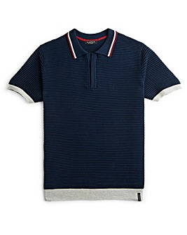 Flintoff By Jacamo Knitted Polo Reg
