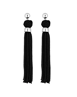 Mood Jet Oversized Tassel Earring
