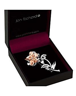 Jon Richard Multi Tone Flower Brooch