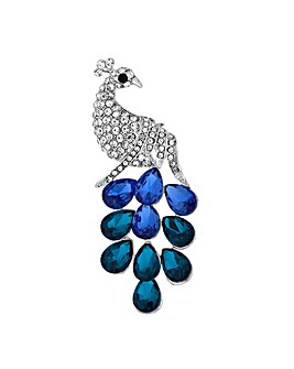 Mood Crystal Peacock Brooch