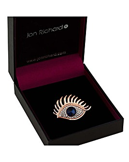 Jon Richard Crystal Eye Brooch