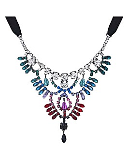 Mood Crystal Rainbow Statement Necklace