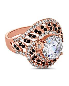 Jon Richard Crystal Swirl Ring