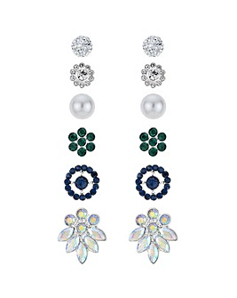 Mood Crystal Multi Shape Earring Set