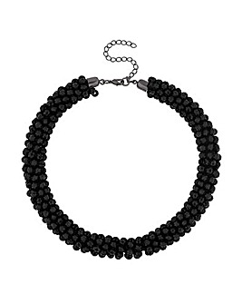 Mood Jet Cluster Bead Necklace