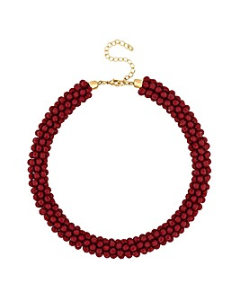 Mood Red Cluster Bead Necklace
