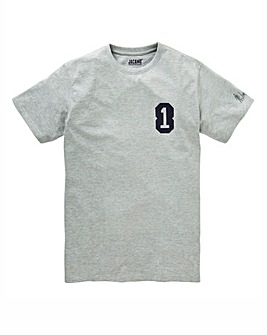 Jacamo Savage 8 T-Shirt Grey Marl Long