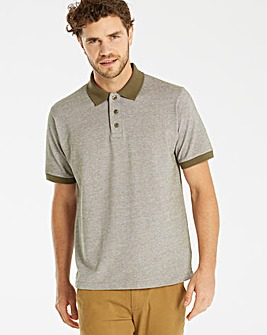 Jacamo Shango Oxford Pique Polo Regular