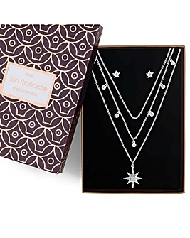Jon Richard Multi Row Star Jewellery Set