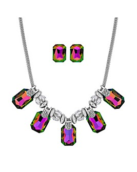 Mood Crystal Square Jewellery Set